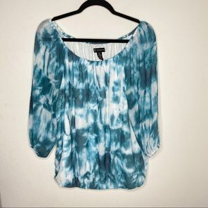 🦋3/$15 INC Turquoise Blouse Size 16